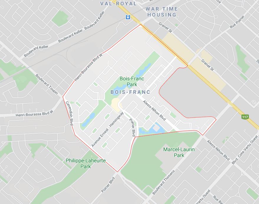 Secteur Services Neige Plus | Déneigement à Bois-Franc, Ville Saint-Laurent